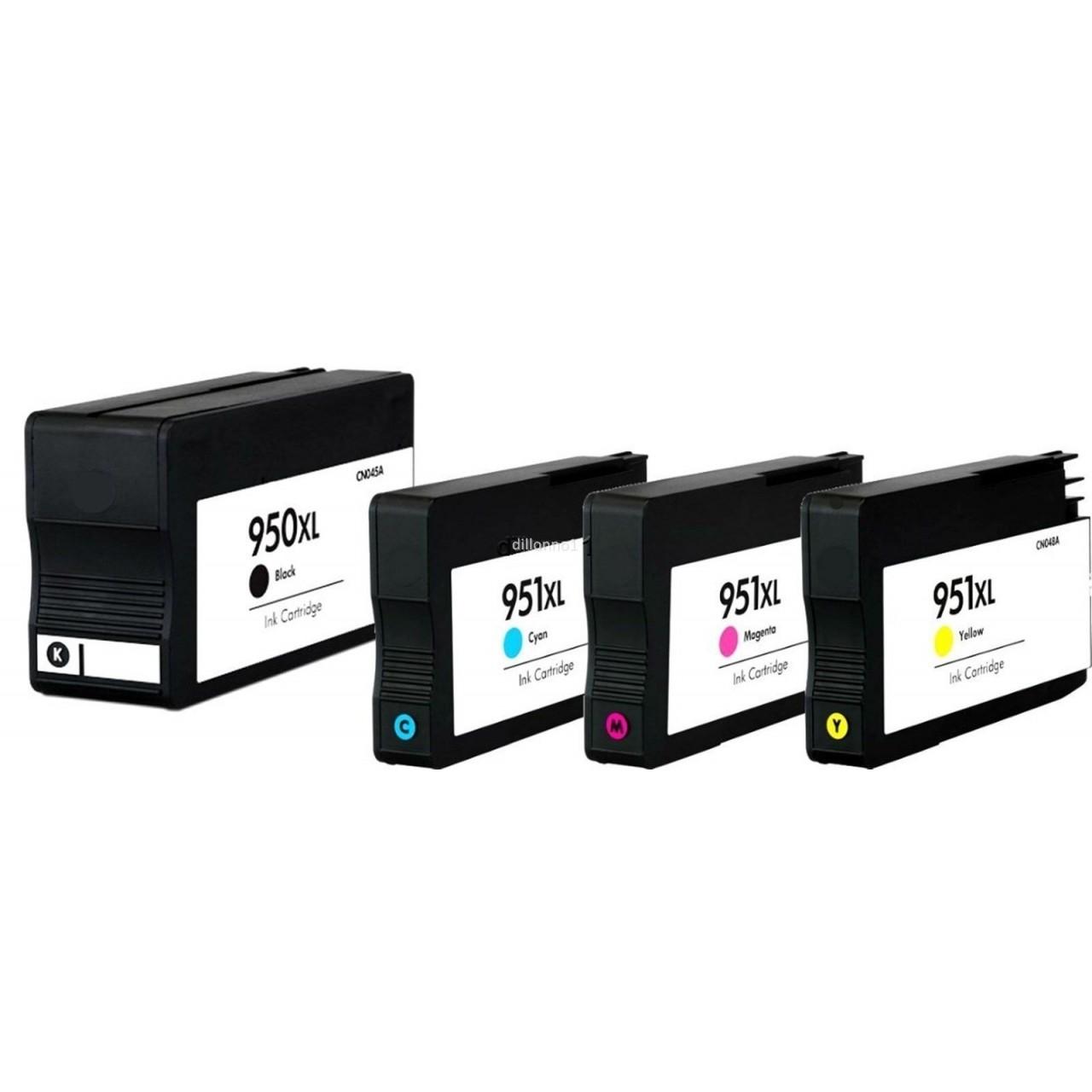 Μελάνια HP Συμβατά 950xl/951xl Pack Τελευταία Έκδοση V5 για: Officejet pro 8100, 8600, 8610, 8620, 8630e, 251dw, 276dw