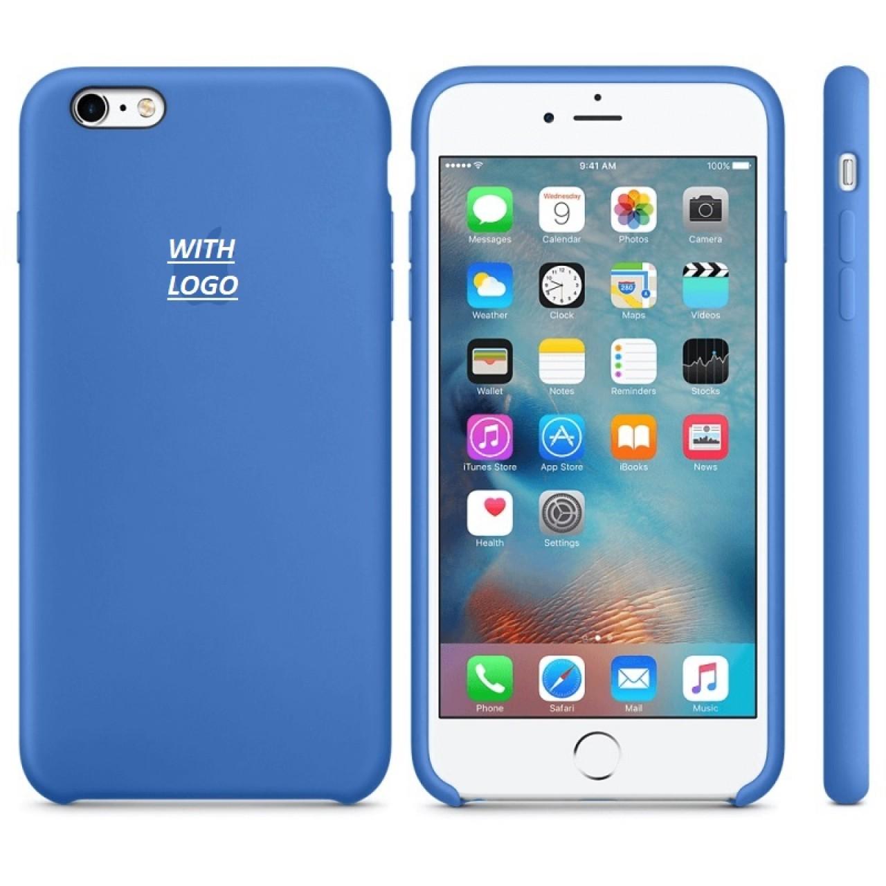 ΘΗΚΗ ΠΡΟΣΤΑΣΙΑΣ ΣΙΛΙΚΟΝΗΣ ΓΙΑ iPhone 6 PLUS ΜΠΛΕ ΠΑΣΤΕΛ - BACK COVER SILICON CASE DENIM BLUE - OEM