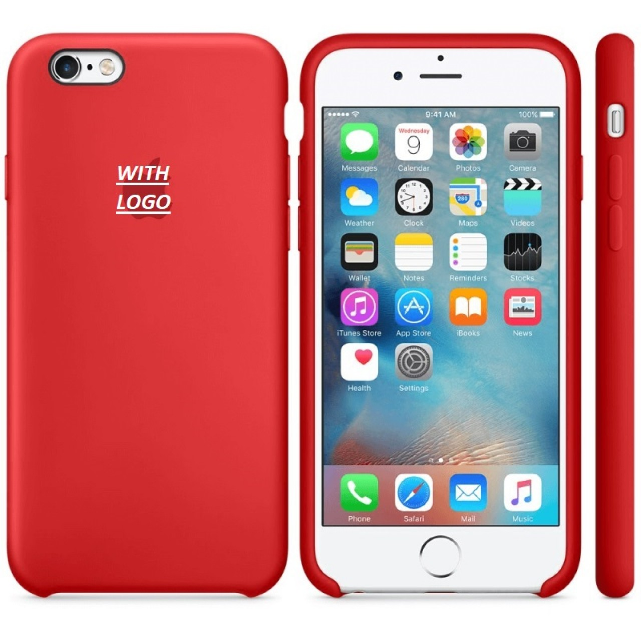 ΘΗΚΗ ΠΡΟΣΤΑΣΙΑΣ ΣΙΛΙΚΟΝΗΣ ΓΙΑ iPhone 6 PLUS  ΚΟΚΚΙΝΗ - BACK COVER SILICON CASE RED - OEM