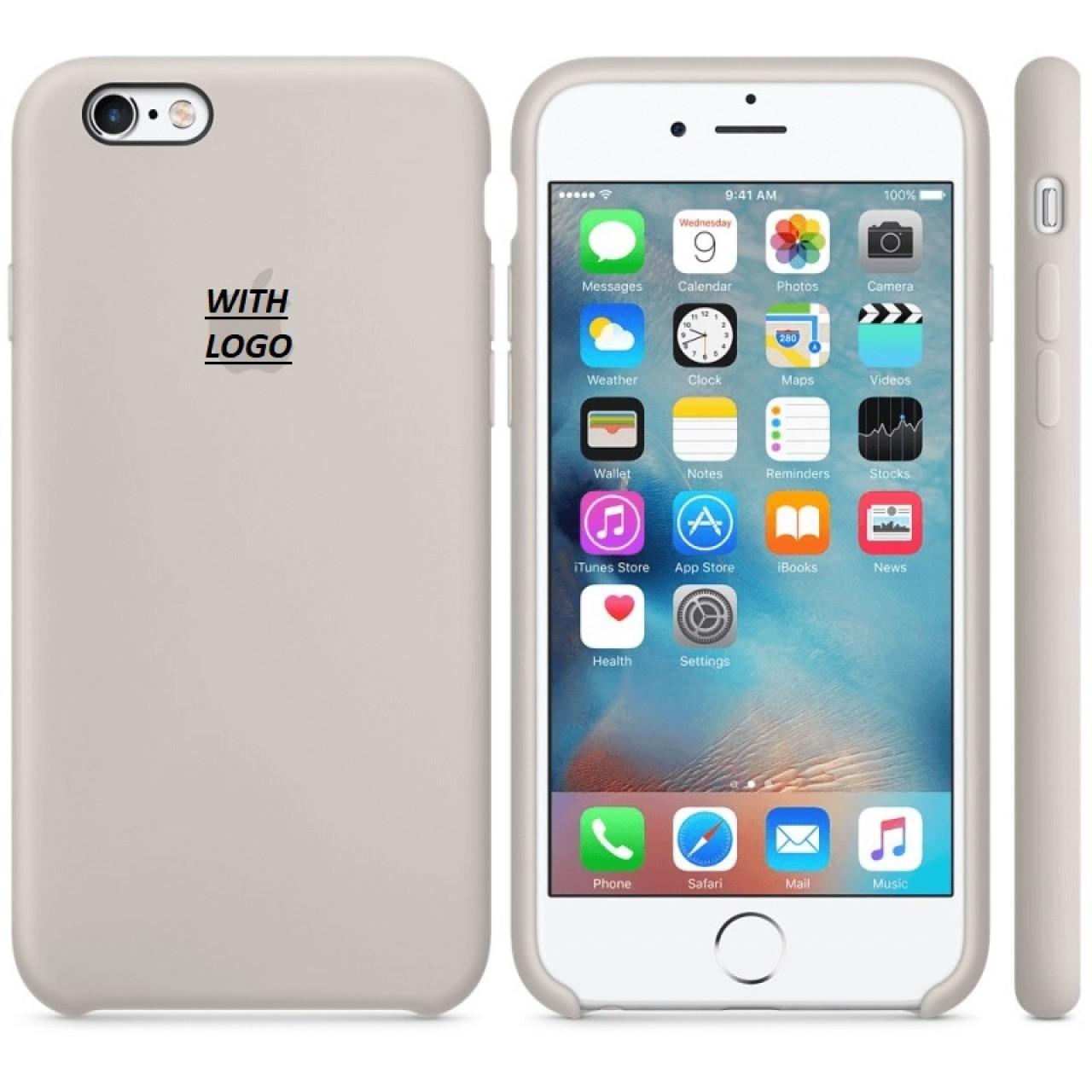 ΘΗΚΗ ΠΡΟΣΤΑΣΙΑΣ ΣΙΛΙΚΟΝΗΣ ΓΙΑ iPhone 6 PLUS ΓΚΡΙ ΤΗΣ ΠΕΤΡΑΣ - BACK COVER SILICON CASE STONE GREY - OEM