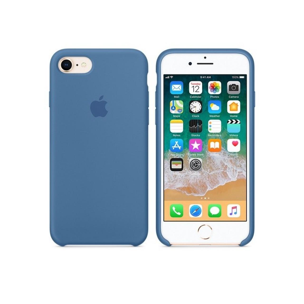 ΘΗΚΗ ΠΡΟΣΤΑΣΙΑΣ ΣΙΛΙΚΟΝΗΣ ΓΙΑ IPHONE 7 / 8 / SE 2020 ΜΠΛΕ ΠΑΣΤΕΛ - BACK COVER SILICON CASE DENIM BLUE - OEM