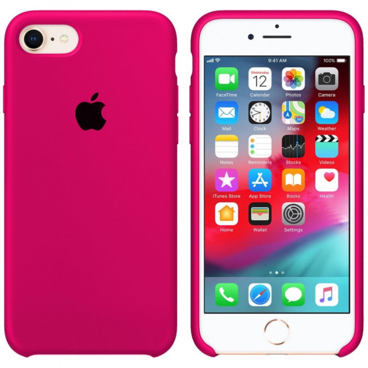 ΘΗΚΗ ΠΡΟΣΤΑΣΙΑΣ ΣΙΛΙΚΟΝΗΣ ΓΙΑ iPhone 7 / 8 / SE 2020 ΦΟΥΞΙΑ - BACK COVER SILICON CASE FUCHSIA - OEM
