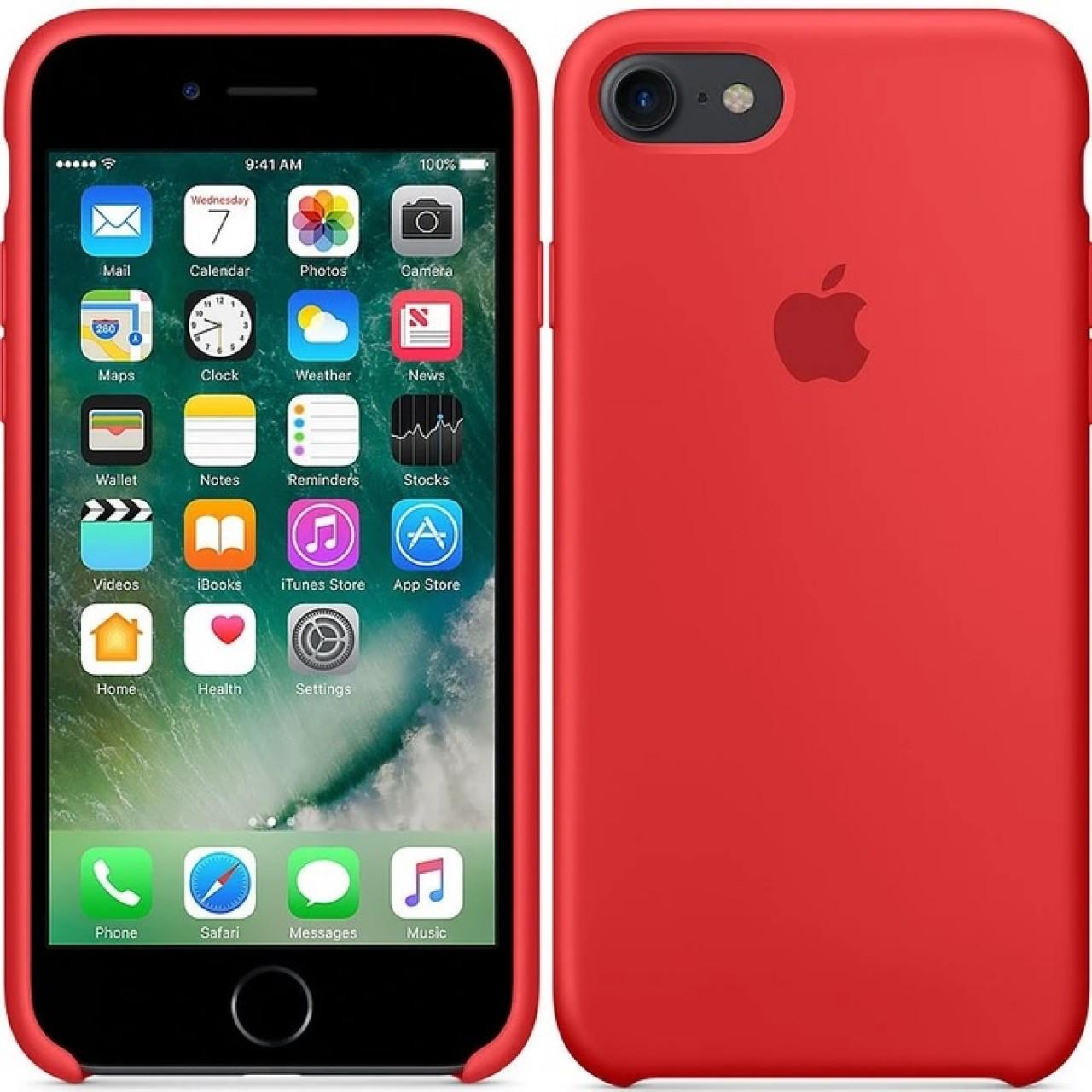 ΘΗΚΗ ΠΡΟΣΤΑΣΙΑΣ ΣΙΛΙΚΟΝΗΣ ΓΙΑ iPhone 7 / 8 PLUS ΚΟΚΚΙΝΗ - BACK COVER SILICON CASE RED - OEM