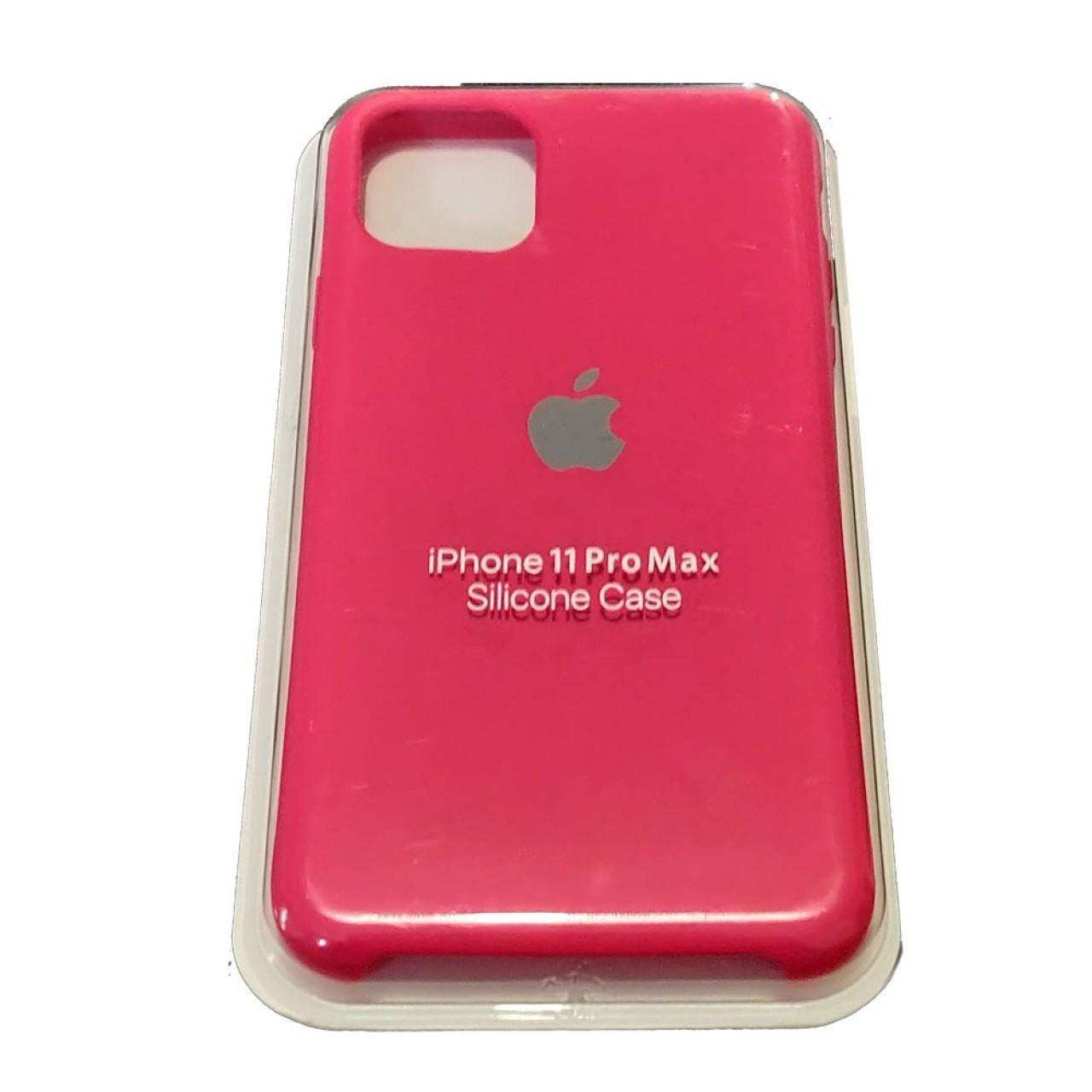 ΘΗΚΗ ΠΡΟΣΤΑΣΙΑΣ ΣΙΛΙΚΟΝΗΣ ΓΙΑ iPhone 11 PRO MAX ΦΟΥΞΙΑ - BACK COVER SILICON CASE FUCHSIA - OEM