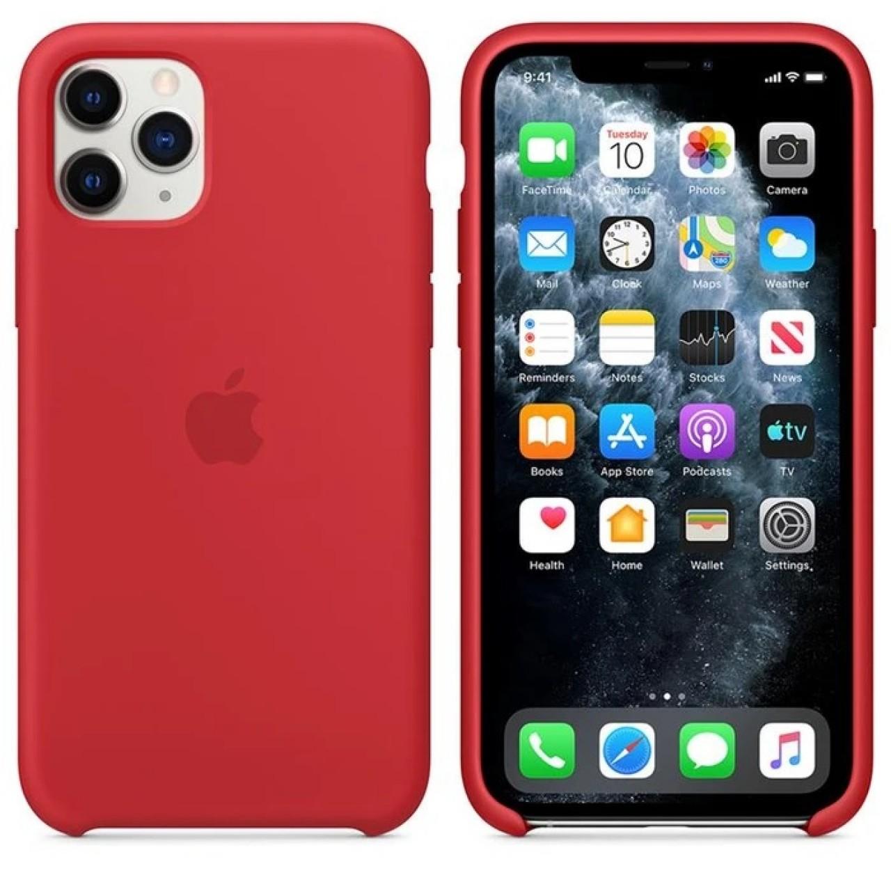 ΘΗΚΗ ΠΡΟΣΤΑΣΙΑΣ ΣΙΛΙΚΟΝΗΣ ΓΙΑ iPhone 11 PRO MAX ΚΟΚΚΙΝΗ - BACK COVER SILICON CASE RED - OEM