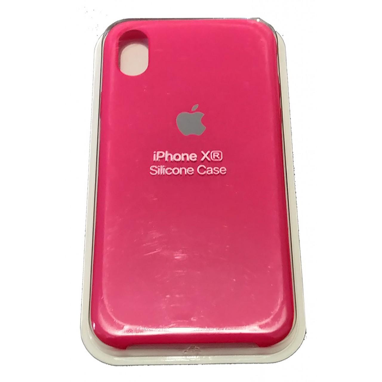 ΘΗΚΗ ΠΡΟΣΤΑΣΙΑΣ ΣΙΛΙΚΟΝΗΣ ΓΙΑ iPhone XR ΦΟΥΞΙΑ - BACK COVER SILICON CASE FUCHSIA - OEM