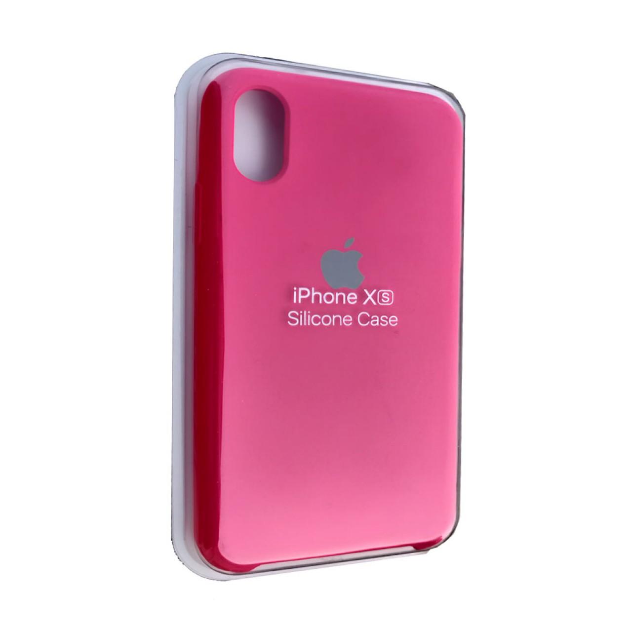 ΘΗΚΗ ΠΡΟΣΤΑΣΙΑΣ ΣΙΛΙΚΟΝΗΣ ΓΙΑ iPhone X / XS ΦΟΥΞΙΑ - BACK COVER SILICON CASE FUCHSIA - OEM