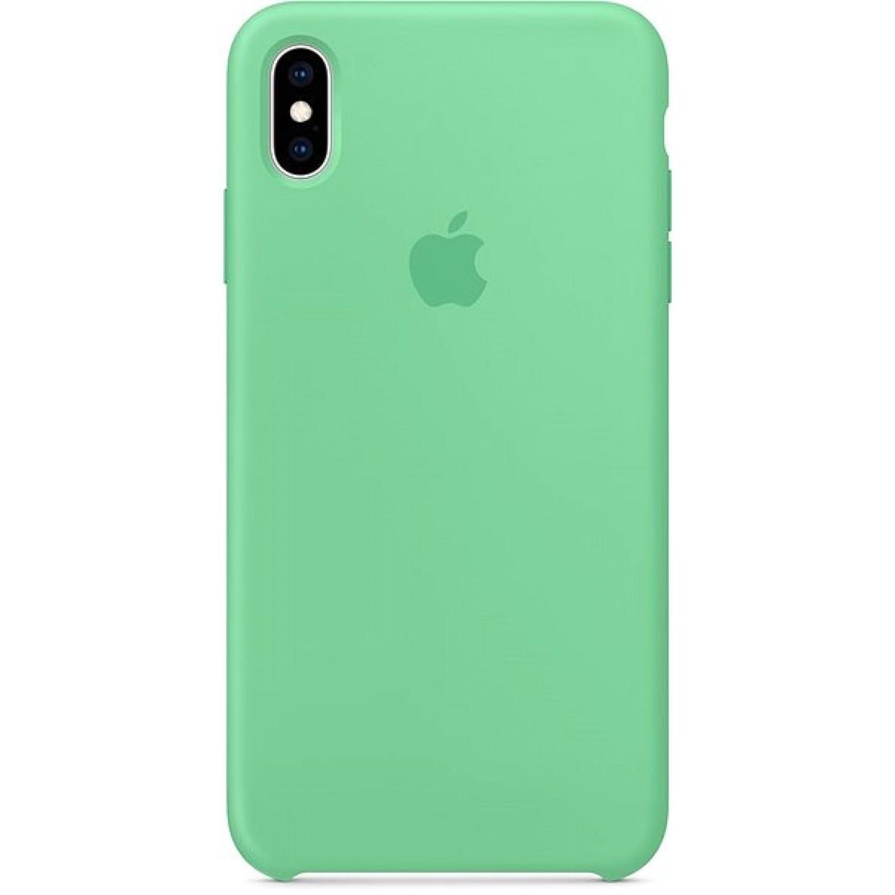 ΘΗΚΗ ΠΡΟΣΤΑΣΙΑΣ ΣΙΛΙΚΟΝΗΣ ΓΙΑ iPhone X / XS ΠΡΑΣΙΝΗ - BACK COVER SILICON CASE GREEN - OEM