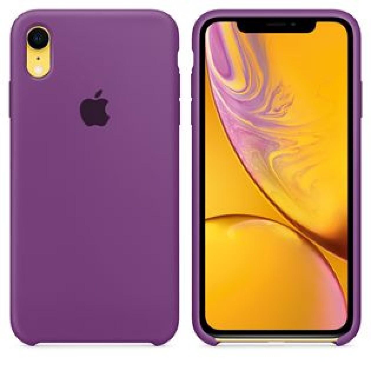 ΘΗΚΗ ΠΡΟΣΤΑΣΙΑΣ ΣΙΛΙΚΟΝΗΣ ΓΙΑ iPhone XR ΜΩΒ - BACK COVER SILICON CASE PURPLE - OEM