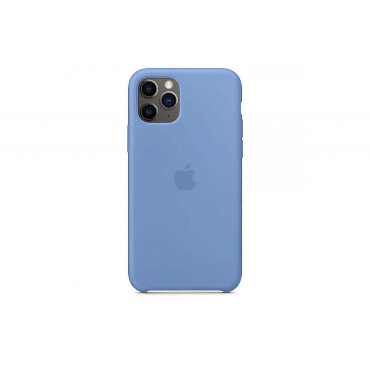 ΘΗΚΗ ΠΡΟΣΤΑΣΙΑΣ ΣΙΛΙΚΟΝΗΣ ΓΙΑ iPhone 11 PRO ΜΠΛΕ ΠΑΣΤΕΛ - BACK COVER SILICON CASE DENIM BLUE - OEM