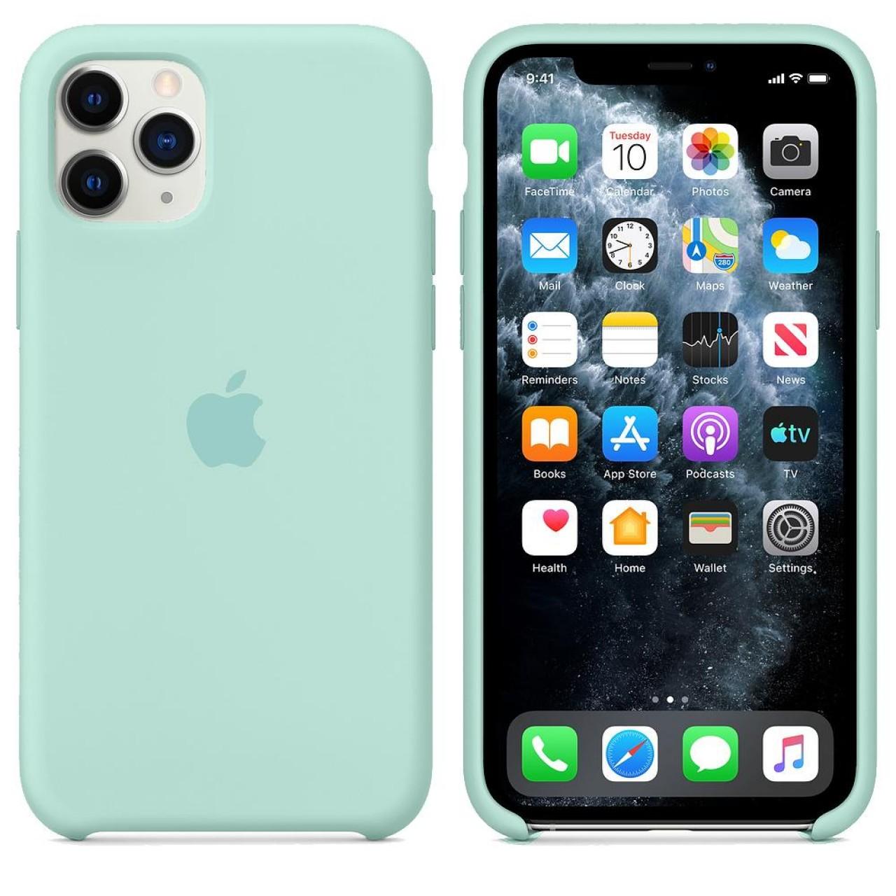 ΘΗΚΗ ΠΡΟΣΤΑΣΙΑΣ ΣΙΛΙΚΟΝΗΣ ΓΙΑ iPhone 11 PRO MAX ΠΡΑΣΙΝΗ - BACK COVER SILICON CASE GREEN MARINE - OEM