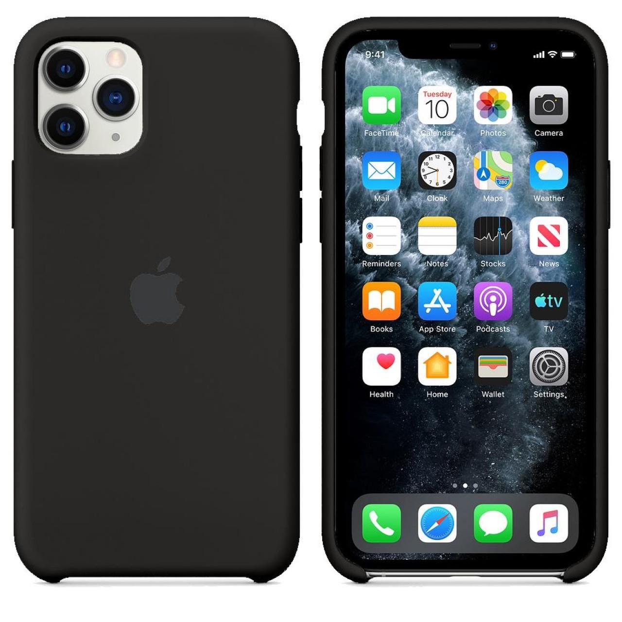 ΘΗΚΗ ΠΡΟΣΤΑΣΙΑΣ ΣΙΛΙΚΟΝΗΣ ΓΙΑ iPhone 11 PRO ΜΑΥΡΗ - BACK COVER SILICON CASE BLACK - OEM