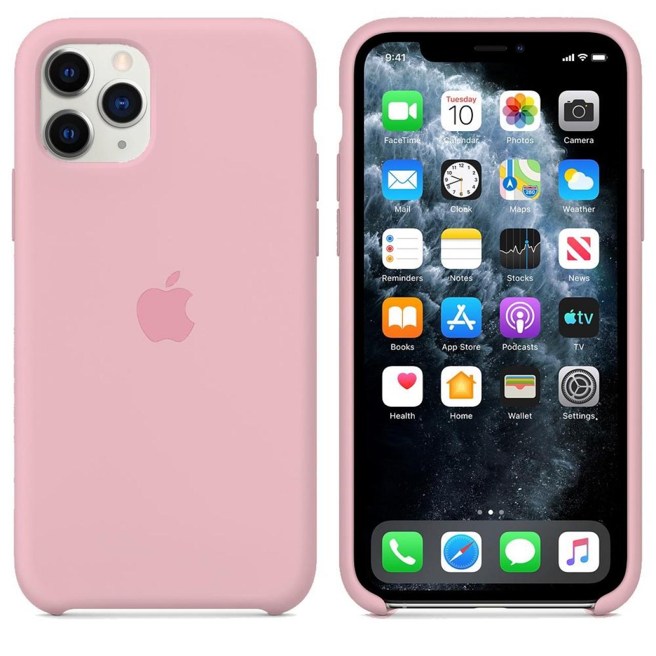 ΘΗΚΗ ΠΡΟΣΤΑΣΙΑΣ ΣΙΛΙΚΟΝΗΣ ΓΙΑ iPhone 11 PRO ΡΟΖ - BACK COVER SILICON CASE PINK - OEM
