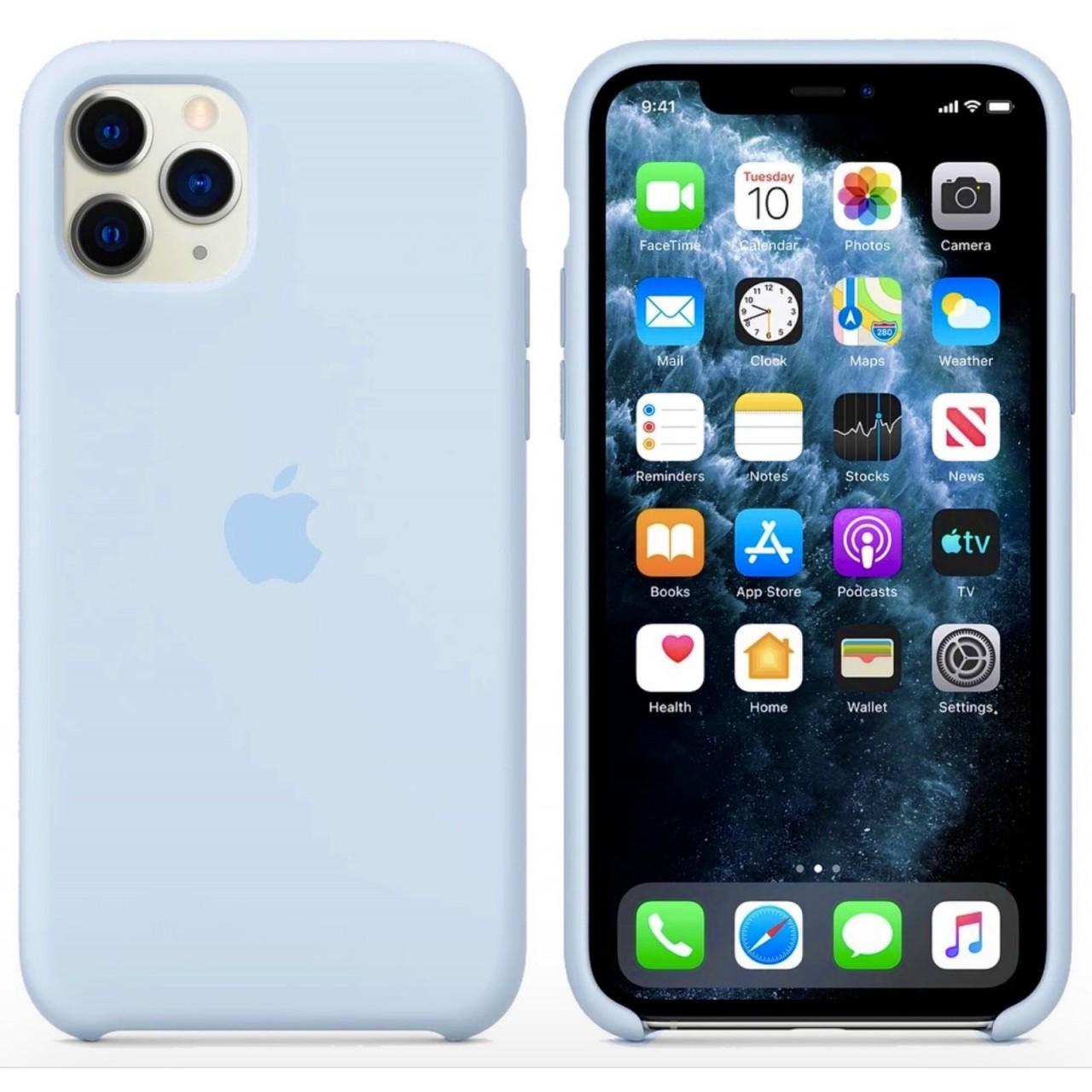 ΘΗΚΗ ΠΡΟΣΤΑΣΙΑΣ ΣΙΛΙΚΟΝΗΣ ΓΙΑ iPhone 11 PRO ΓΑΛΑΖΙΟ ΤΟΥ ΟΥΡΑΝΟΥ - BACK COVER SILICON CASE SKY BLUE - OEM