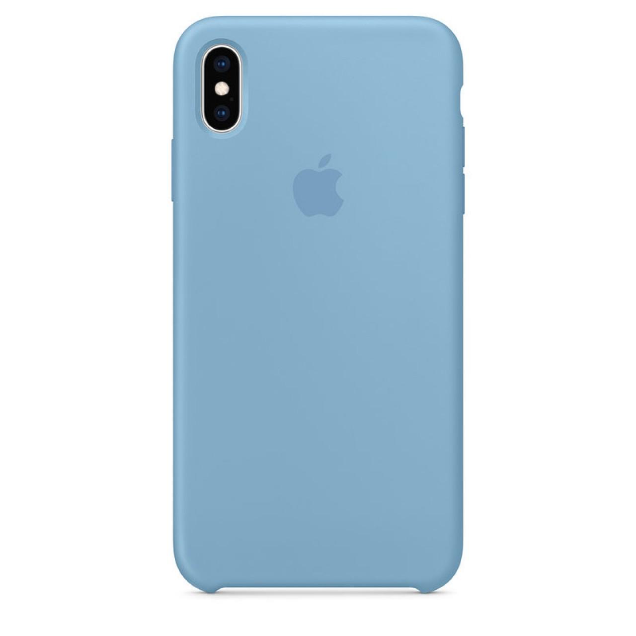 ΘΗΚΗ ΠΡΟΣΤΑΣΙΑΣ ΣΙΛΙΚΟΝΗΣ ΓΙΑ iPhone XS MAX ΜΠΛΕ ΠΑΣΤΕΛ - BACK COVER SILICON CASE DENIM BLUE - OEM