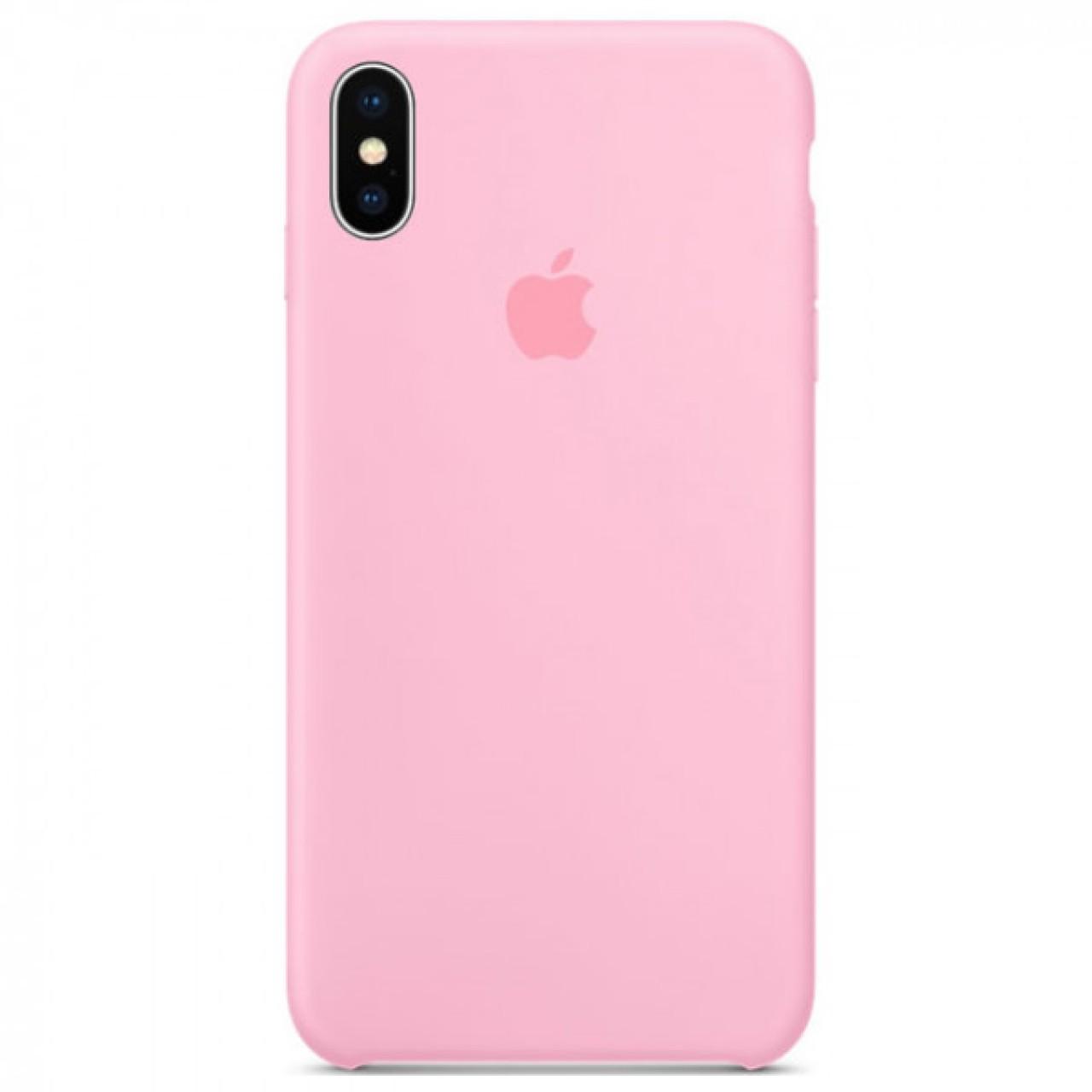 ΘΗΚΗ ΠΡΟΣΤΑΣΙΑΣ ΣΙΛΙΚΟΝΗΣ ΓΙΑ iPhone XS MAX ΡΟΖ - BACK COVER SILICON CASE PINK - OEM