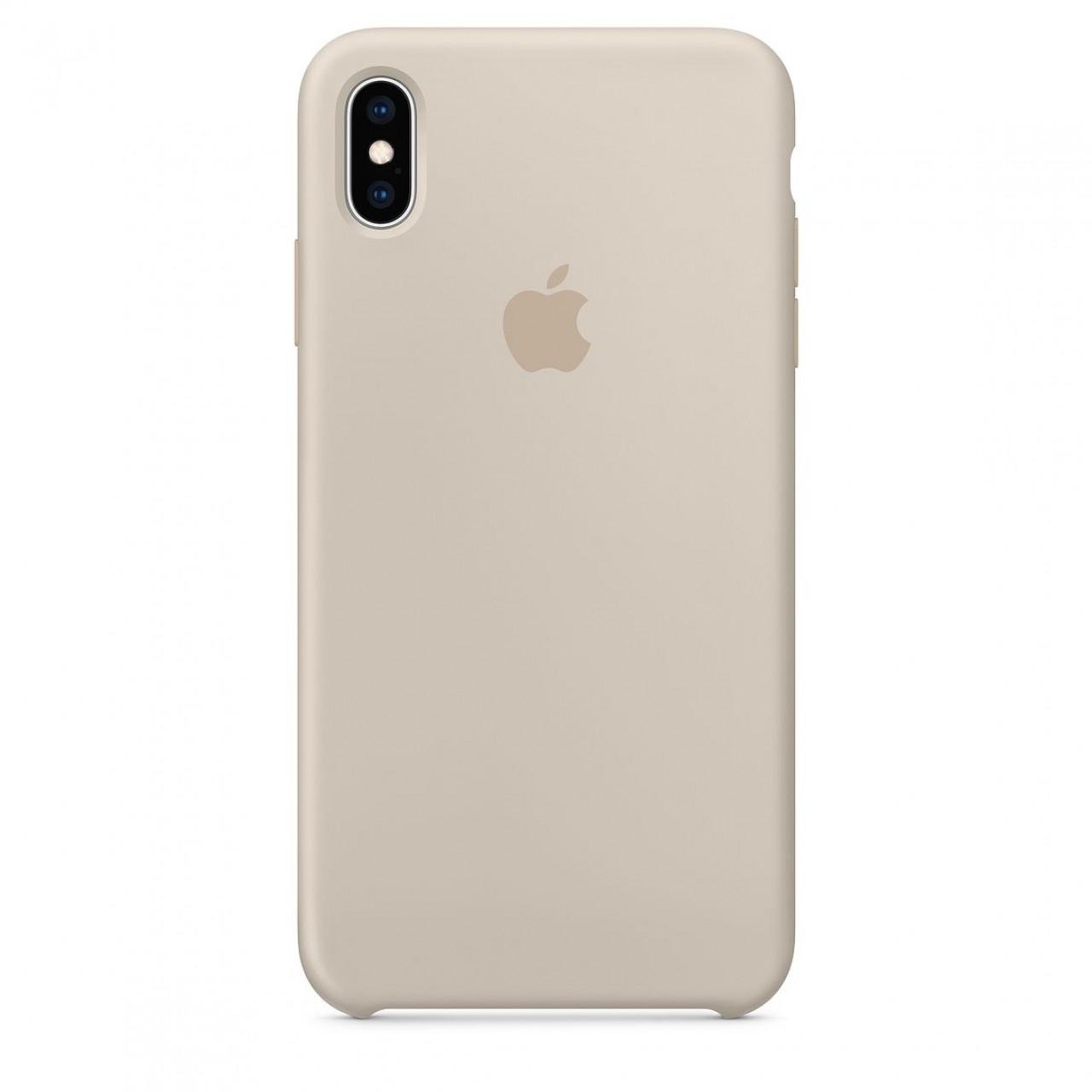 ΘΗΚΗ ΠΡΟΣΤΑΣΙΑΣ ΣΙΛΙΚΟΝΗΣ ΓΙΑ iPhone XS MAX ΓΚΡΙ ΤΗΣ ΠΕΤΡΑΣ - BACK COVER SILICON CASE STONE GREY - OEM