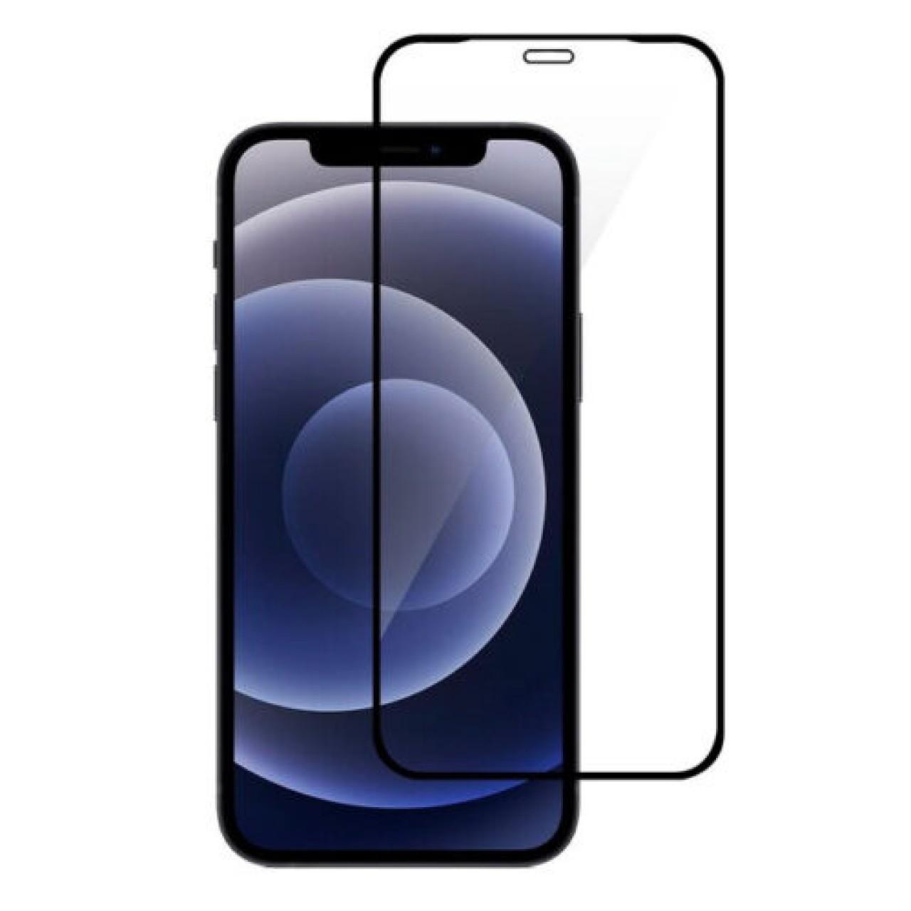 TEMPERED GLASS PREMIUM BLACK  - ΠΡΟΣΤΑΤΕΥΤΙΚΟ ΤΖΑΜΙ ΟΘΟΝΗΣ ΓΙΑ iPhone 12 / 12 Pro - ΜΑΥΡΟ