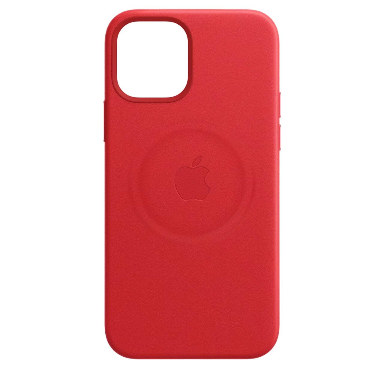 ΔΕΡΜΑΤΙΝΗ ΘΗΚΗ ΠΡΟΣΤΑΣΙΑΣ ΜΕ MAGSAFE ΓΙΑ IPHONE 12/12 PRO ΚΟΚΚΙΝΗ - LUXURY LEATHER CASE RED - OEM