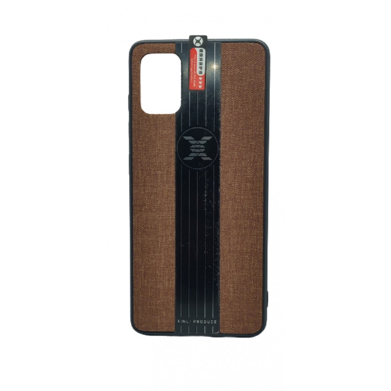 Back Case Cloth Pattern with ring for Samsung A51 Brown - Θήκη προστασίας με δαχτυλίδι στην πλάτη Καφέ - OEM
