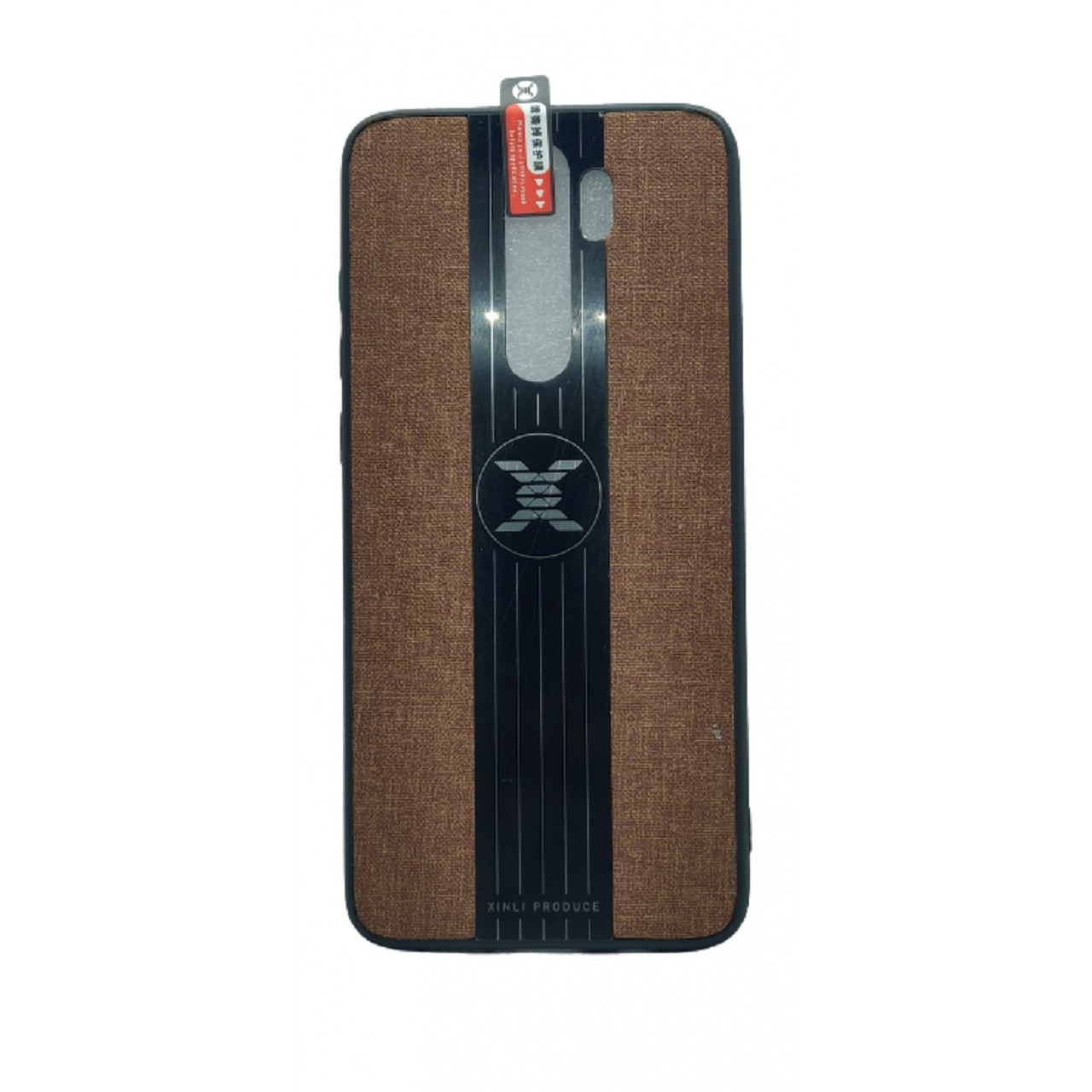 Back Case Cloth Pattern with ring for Redmi note 8 PRO Brown - Θήκη προστασίας με δαχτυλίδι στην πλάτη Καφέ - OEM