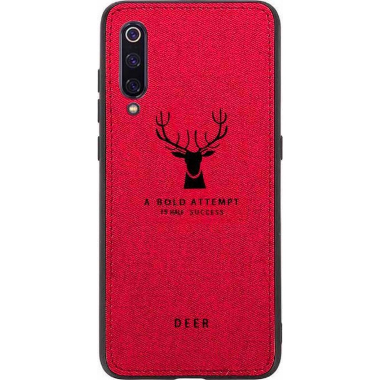 DEER CLOTH BACK CASE FOR SAMSUNG GALAXY A30s - RED