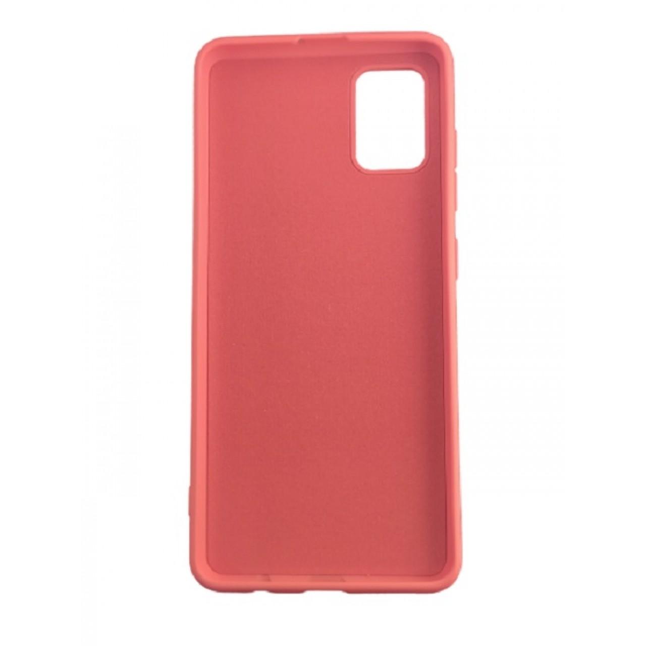 ΘΗΚΗ ΠΡΟΣΤΑΣΙΑΣ ΣΙΛΙΚΟΝΗΣ ΓΙΑ Samsung A71 ΚΟΡΑΛΙ - BACK COVER SILICONE CASE CORAL - OEM