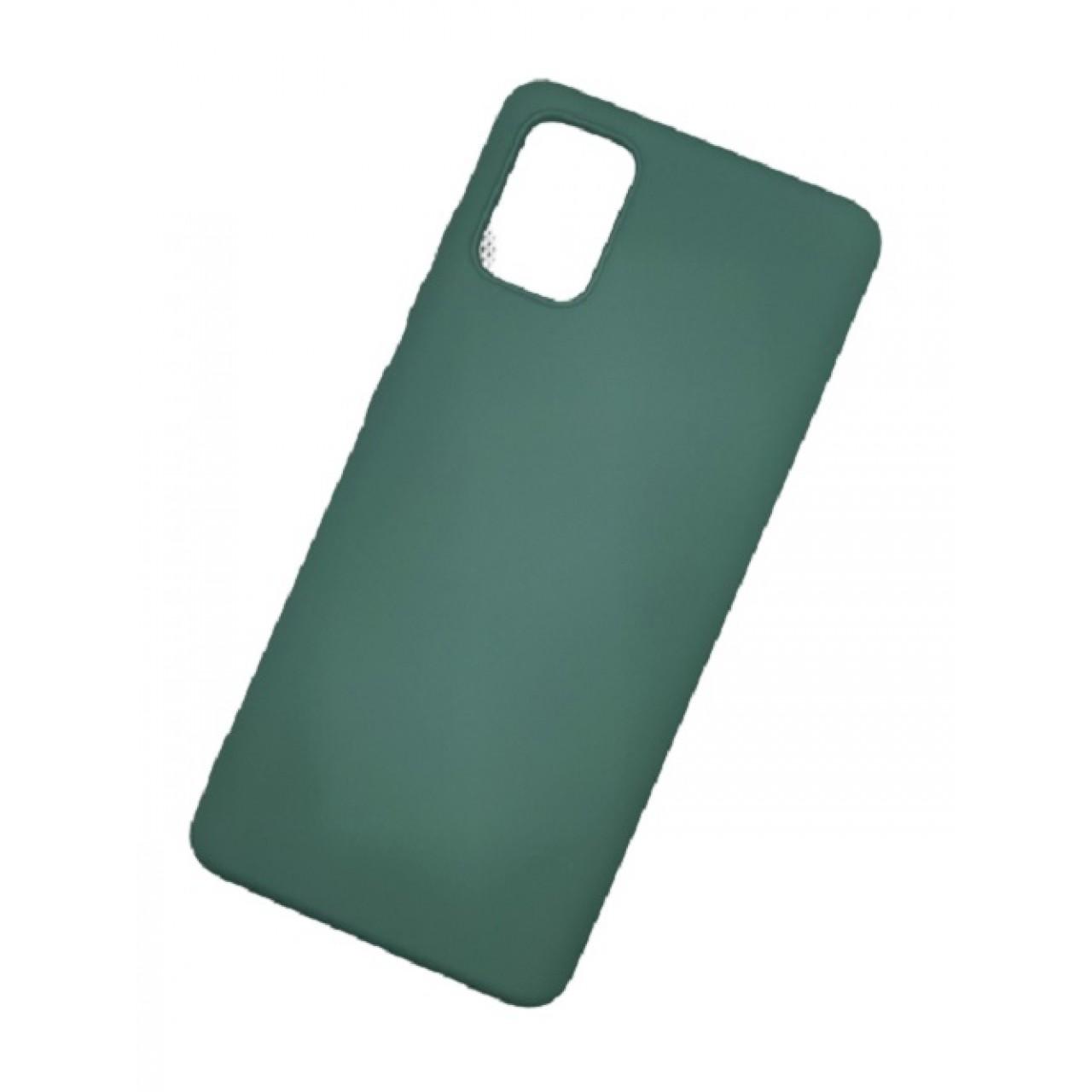 ΘΗΚΗ ΠΡΟΣΤΑΣΙΑΣ ΣΙΛΙΚΟΝΗΣ ΓΙΑ Samsung A71 ΠΡΑΣΙΝΗ - BACK COVER SILICONE CASE GREEN - OEM