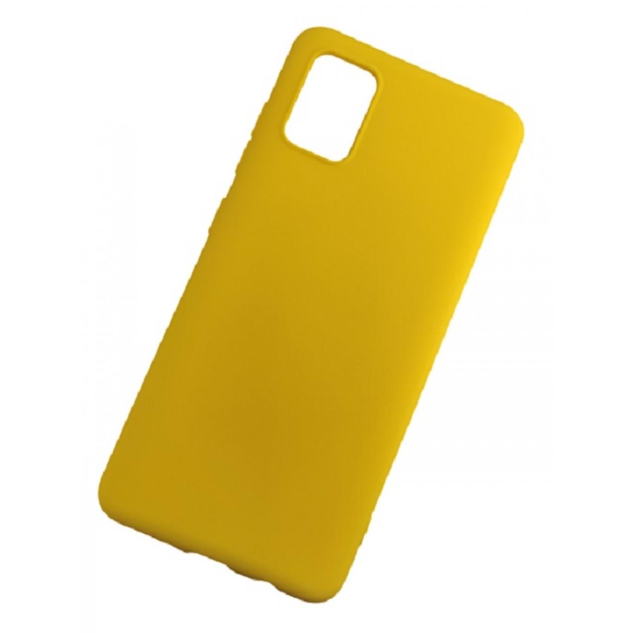 ΘΗΚΗ ΠΡΟΣΤΑΣΙΑΣ ΣΙΛΙΚΟΝΗΣ ΓΙΑ Samsung A71 ΚΙΤΡΙΝΗ - BACK COVER SILICONE CASE YELLOW - OEM