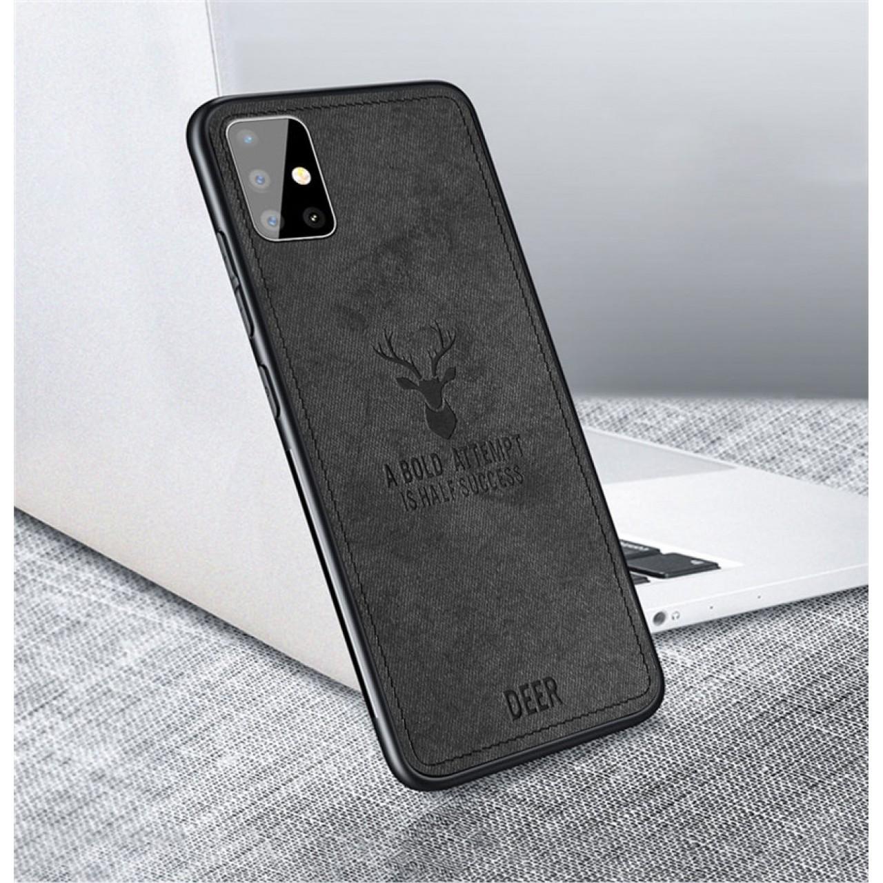 ΘΗΚΗ DEER CLOTH BACK CASE FOR REDMI 10X 4G - BLACK