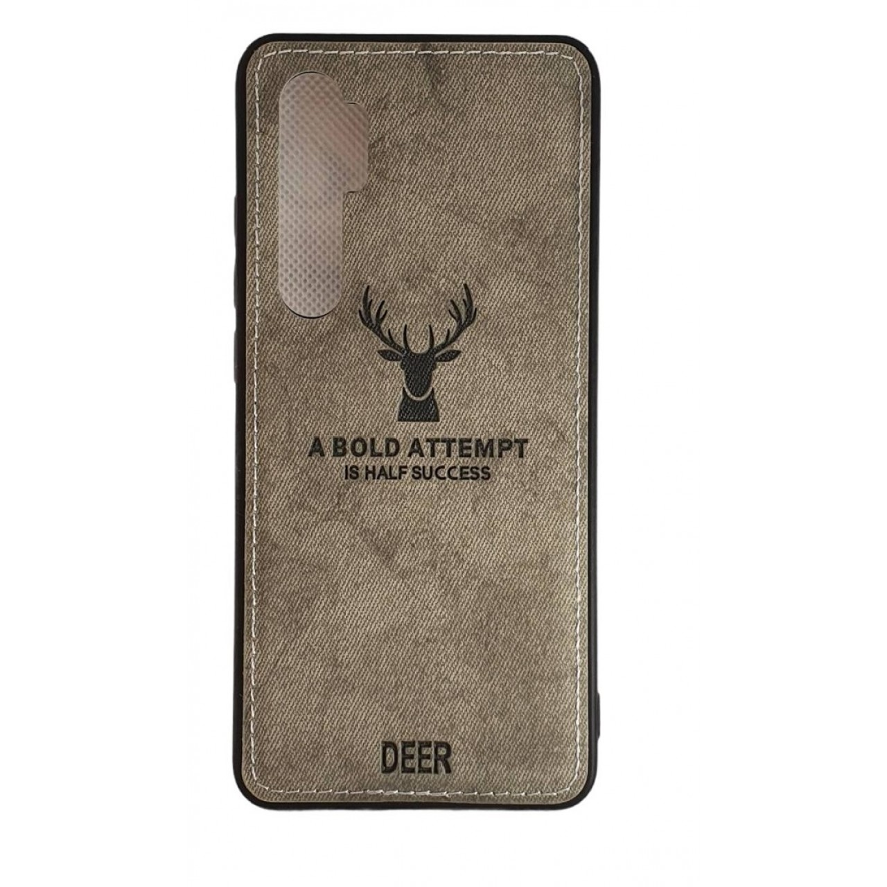 DEER CLOTH BACK CASE FOR XIAOMI Mi Note 10 Lite - GREY