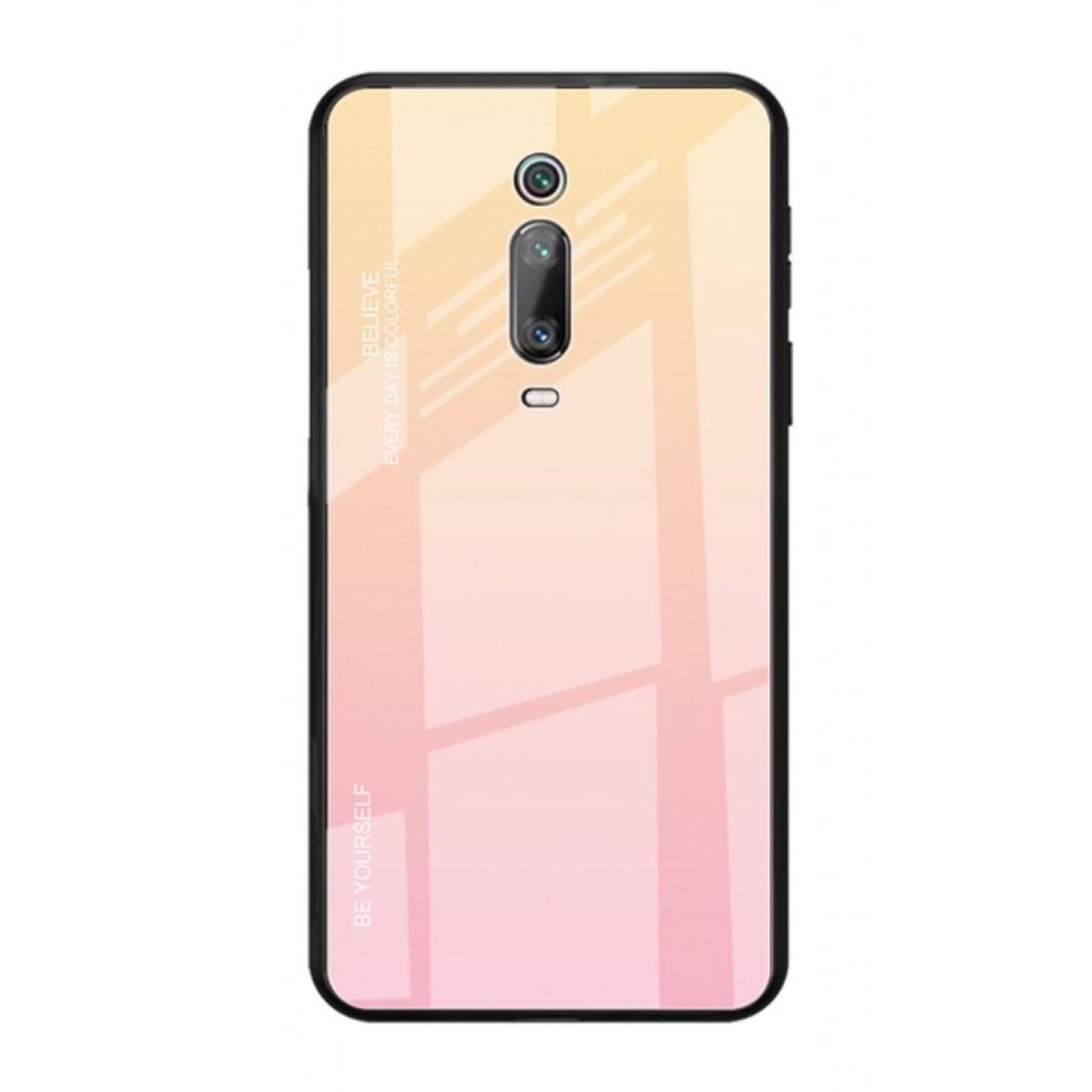 Luxury Hybrid 9H Glass Case For Xiaomi Mi 9T / Mi 9T PRO - Yellow