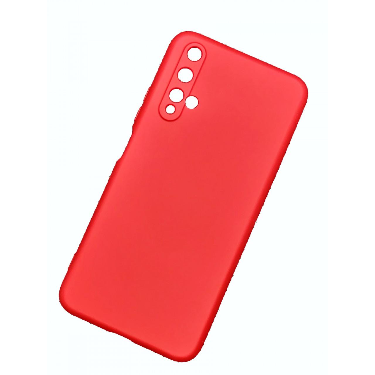 ΘΗΚΗ ΠΡΟΣΤΑΣΙΑΣ ΣΙΛΙΚΟΝΗΣ ΓΙΑ HUAWEI NOVA 5T - ΚΟΚΚΙΝΗ - BACK COVER SILICONE CASE RED - OEM