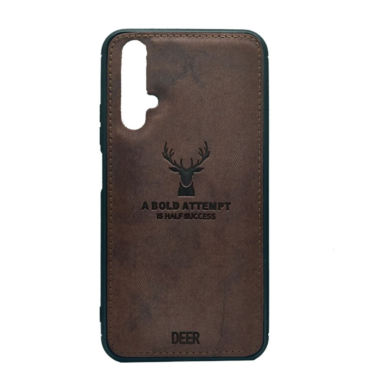 DEER CLOTH BACK CASE FOR HUAWEI NOVA 5T - BROWN
