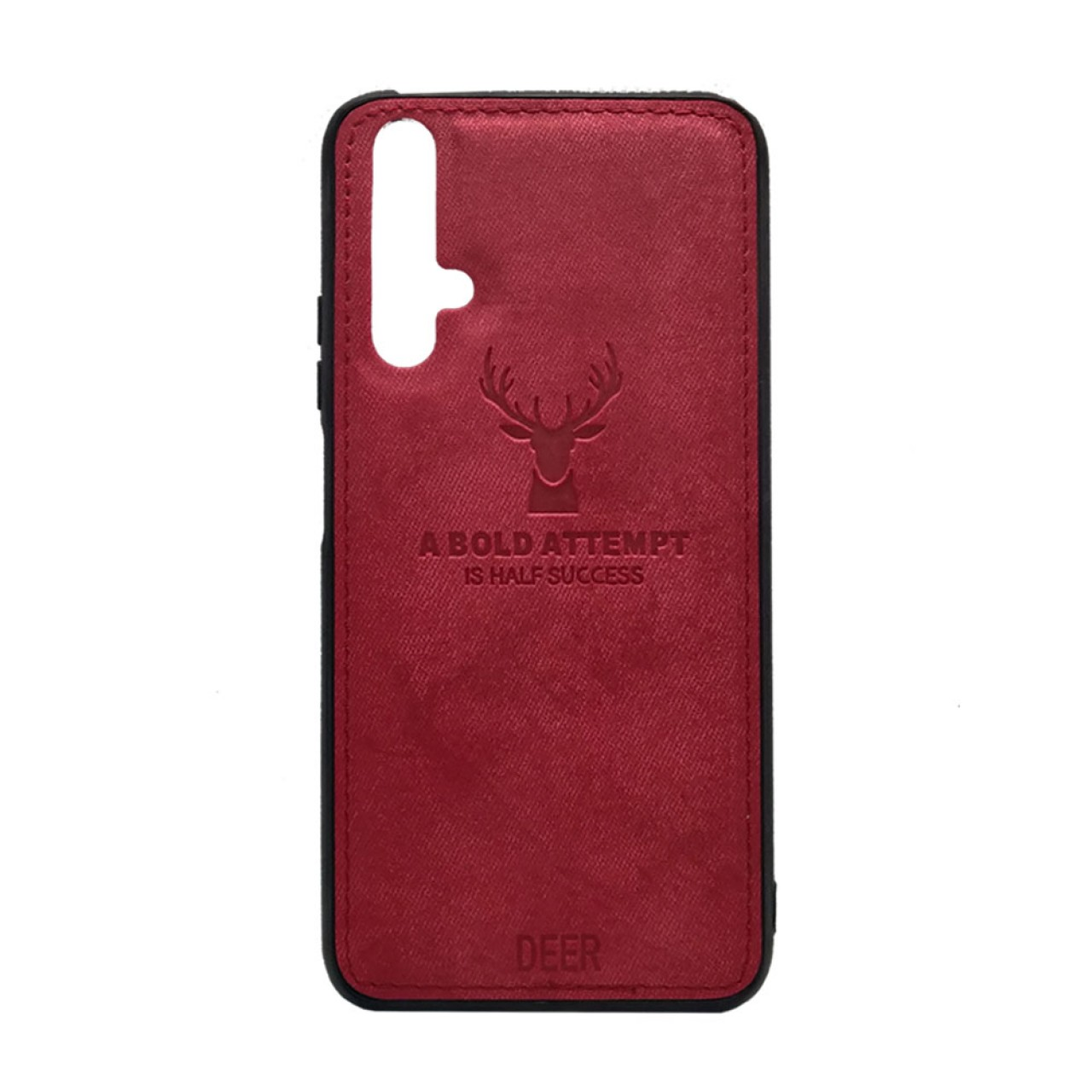 DEER CLOTH BACK CASE FOR HUAWEI NOVA 5T - RED