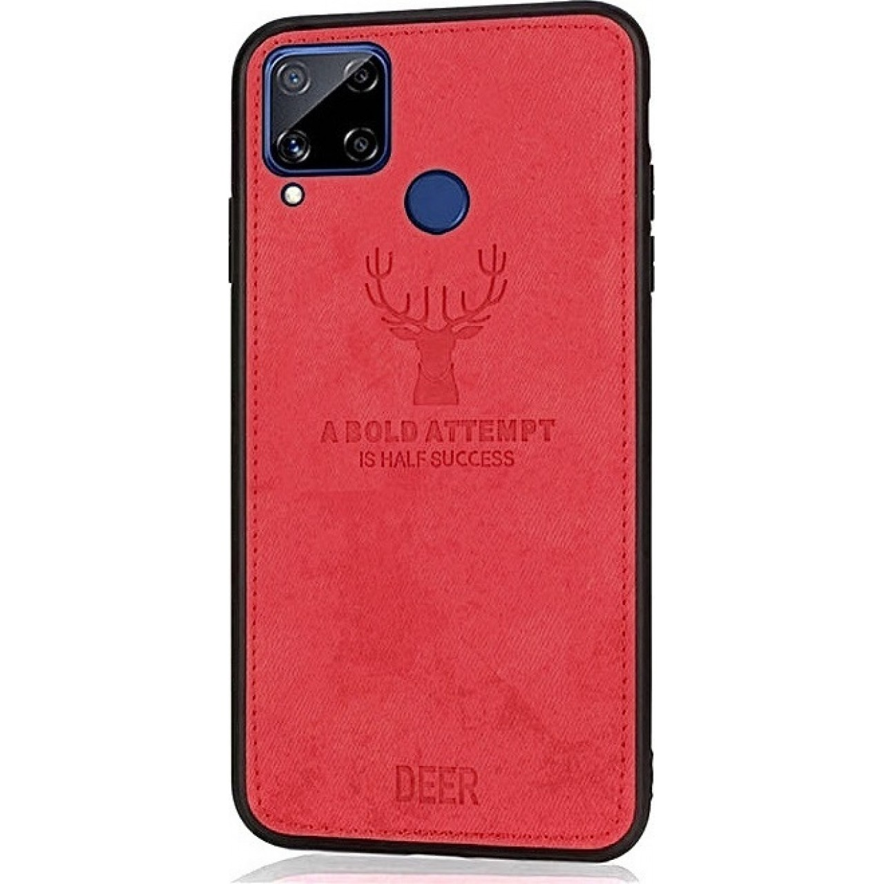 DEER CLOTH BACK CASE FOR HUAWEI P40 LITE - RED