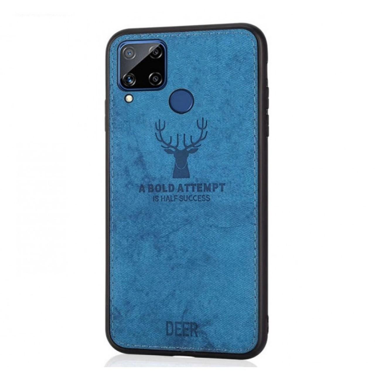 DEER CLOTH BACK CASE FOR HUAWEI P40 LITE - BLUE