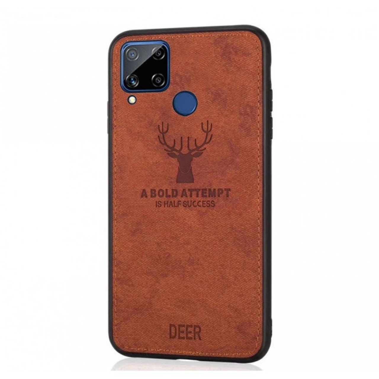 DEER CLOTH BACK CASE FOR HUAWEI P40 LITE - BROWN