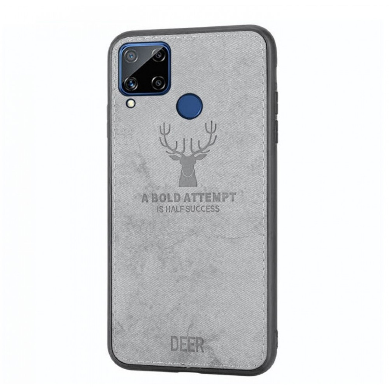 DEER CLOTH BACK CASE FOR HUAWEI P40 LITE - GREY